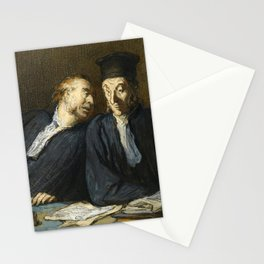 "Honoré Daumier ""Two Lawyers Conversing"" Stationery Cards"