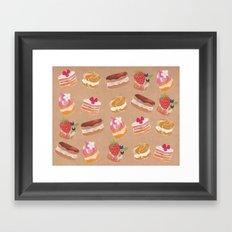 Pastries Framed Art Print
