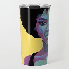 Flat bold portrait of a woman Travel Mug