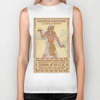 egypt Biker Tanks featuring EGYPT by Kathead Tarot/David Rivera