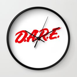 D.A.R.E. (Dare)  to keep kids off drugs Vintage Logo Shirt Wall Clock