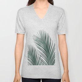 Tropical Palm Leaves #2 #botanical #decor #art #society6 Unisex V-Neck