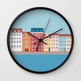 Nyhavn, Copenhagen, Denmark - South Wall Clock