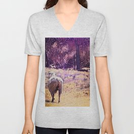 Lamb Frolic with Mama Ewe by CheyAnne Sexton Unisex V-Neck