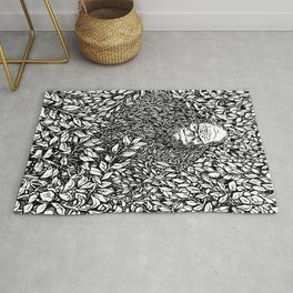 SASQUATCH IN THE LEAVES Rug