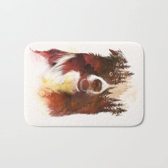 One night in the forest Bath Mat