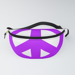 Purple Peace Sign, Power of Peace, Power of Love, Social Justice Warrior, Super Sharp PNG Fanny Pack