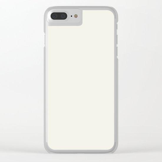Simply Cream Clear iPhone Case