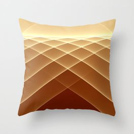 Brown Horizon Throw Pillow