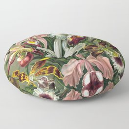 Vintage Orchid Floral Floor Pillow