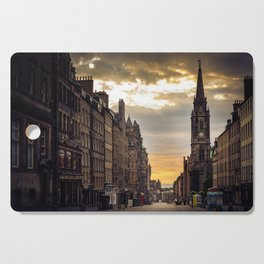 Royal Mile Sunrise in Edinburgh, Scotland Cutting Board