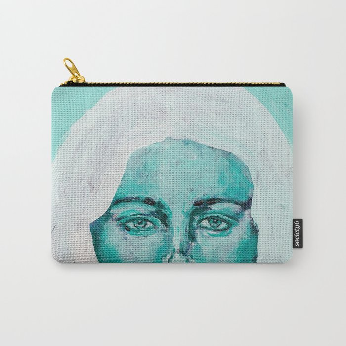 Mint Girl Carry-All Pouch