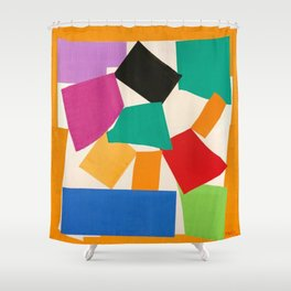Henri Matisse - The Snail cut-out series portrait painting Shower Curtain
