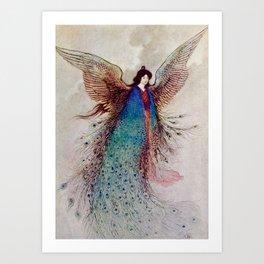 """Moon Maiden"" Fairy Art by Warwick Goble Art Print"
