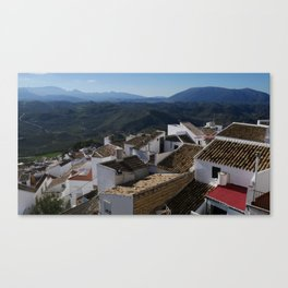 Roofs of Olvera Canvas Print