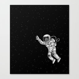 Astronaut in the outer space Canvas Print