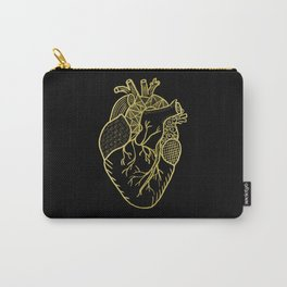 Designer Heart Gold Carry-All Pouch