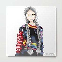 anime girl Metal Print