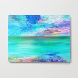 Ocean at Sunrise Metal Print
