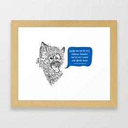 A Beast's Beseechment Framed Art Print