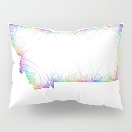 Rainbow Montana map Pillow Sham