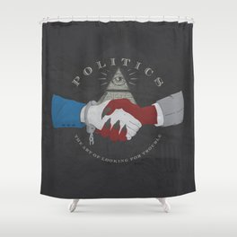 The Art of Politics Shower Curtain