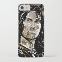 gondor iPhone & iPod Cases featuring Aragorn by Patrick Scullin