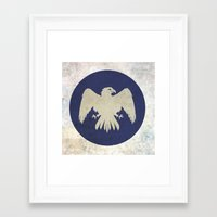 game of thrones Framed Art Prints featuring Arryn Flag (Game of Thrones) by Goat Robot