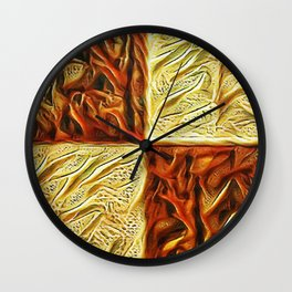 Checkered Chestnuts Wall Clock