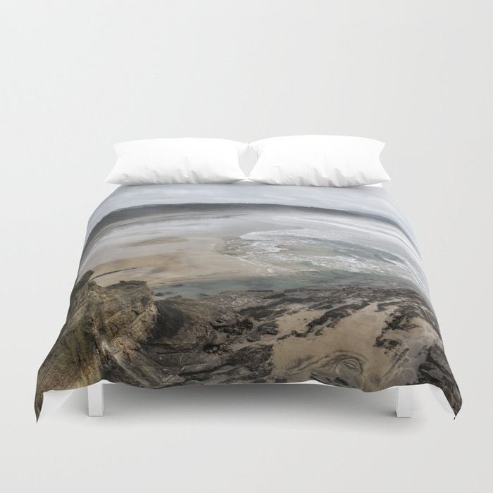 Lookout Point Near Otter Rock Duvet Cover By Belindagreb