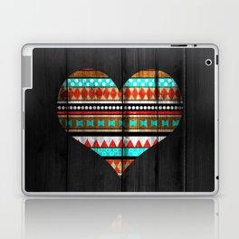 Aztec tribal heart Laptop & iPad Skin