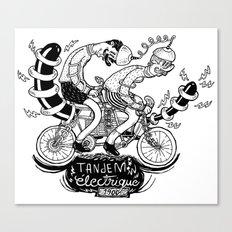 Tandem électrique Canvas Print