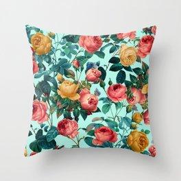 Spring-Summer Botanical Pattern II Throw Pillow