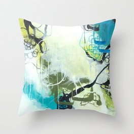 Everglades - Square Abstract Expressionism Throw Pillow