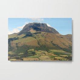 Mount Imbabura Near Cotacachi Ecuador Metal Print