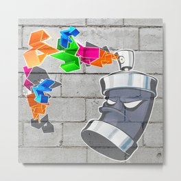 Spray It, Don't Say It Metal Print
