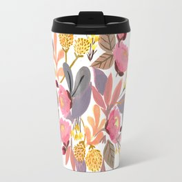 Winter Floral Travel Mug