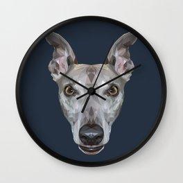 Whippet // Navy (Vespa) Wall Clock