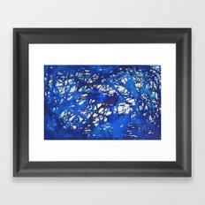 Tangled in Blue Framed Art Print