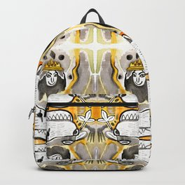 Black & Orange Diamond Dogs Backpack