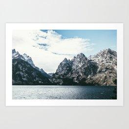 Jackson Hole Mountains Art Print