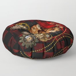 Steampunk, wonderful clockwork Floor Pillow