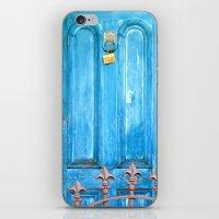 door iPhone & iPod Skins featuring door by Hannah