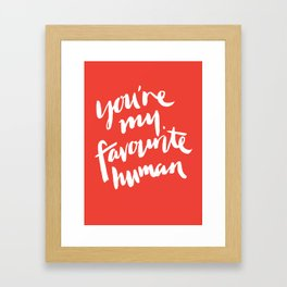 Favourite (coral) Framed Art Print