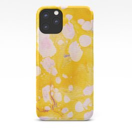 speckled marble | yellow iPhone Case