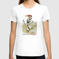 olaf T-shirts featuring Olaf Christmas Frozen by WimpyGeek Art