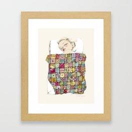 sleeping child Framed Art Print