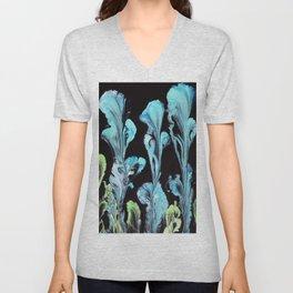 Blue Iris Flowers Unisex V-Neck