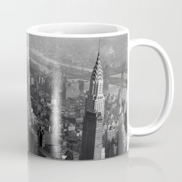 Construction worker Empire State Building NYC Coffee Mug