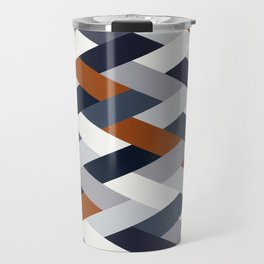 Navy Rust Geometry VIB Travel Mug
